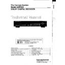 Harman Kardon ADP 303 Service Manual