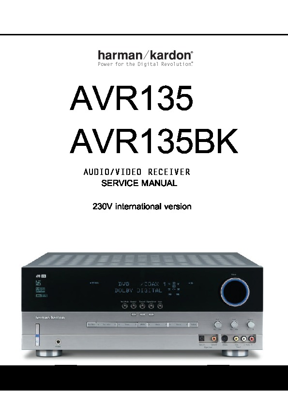 harman kardon avr 135 serv man3 service manual view online or rh servlib com Harman Kardon AVR 335 Receiver Harman Kardon AVR 130