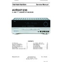 Harman Kardon AVR 247 Service Manual — View online or
