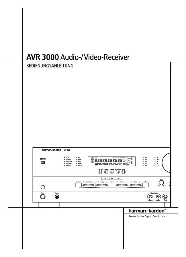 harman kardon avr 330 manual pdf
