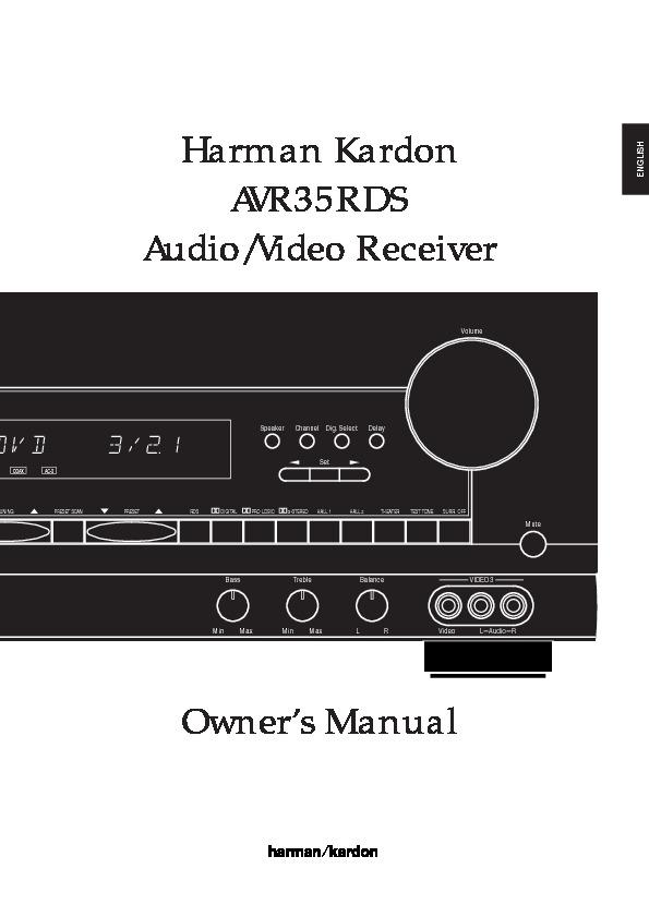 harman kardon avr 35 serv man4 user guide operation manual rh servlib com Harman Kardon AVR 3700 harman kardon avr 35 specs