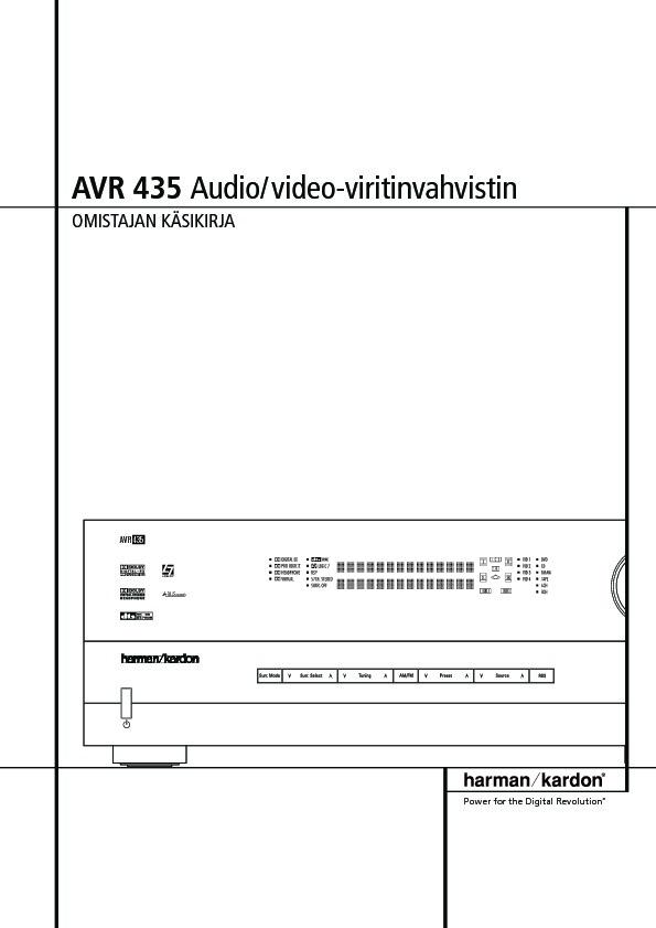 Harman Kardon Avr 435  Serv Man11  User Guide    Operation