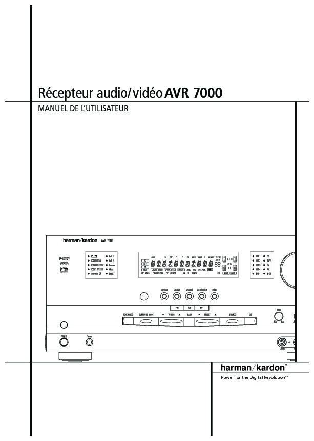 harman kardon avr 7000 serv man6 user guide operation manual rh servlib com Parts Manual Parts Manual