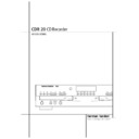 Harman Kardon CDR 20 User Guide / Operation Manual