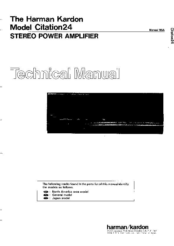 harman kardon citation 24 service manual view online or download rh servlib com Hobart User Manuals Citation Checker