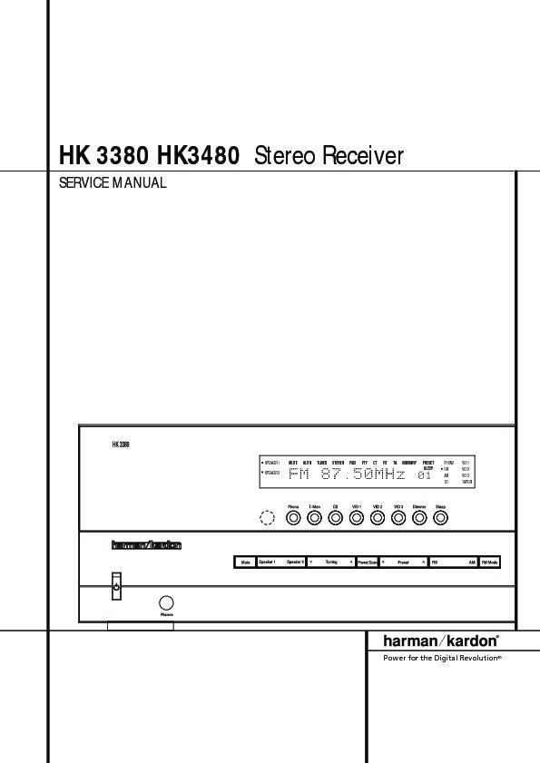 Harman Kardon Hk 3480  Serv Man12  Service Manual  U2014 View