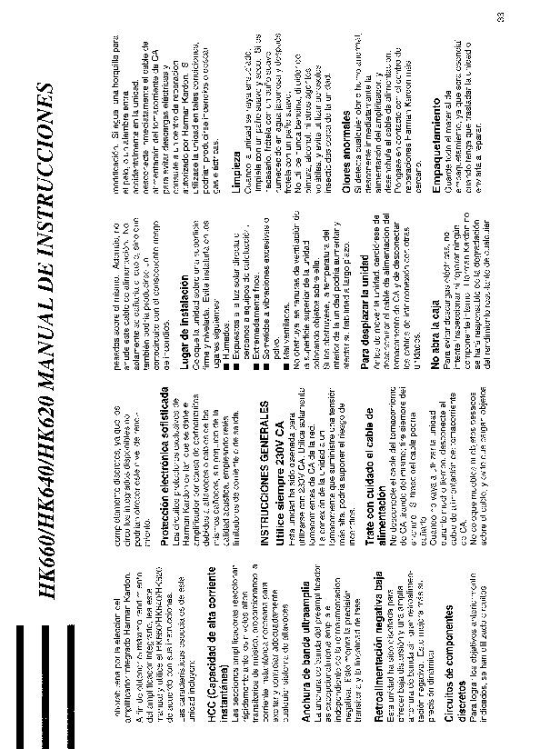 Harman Kardon Hk 640  Serv Man6  User Guide    Operation