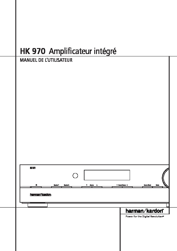 Harman Kardon Hk 970  Serv Man4  User Guide    Operation