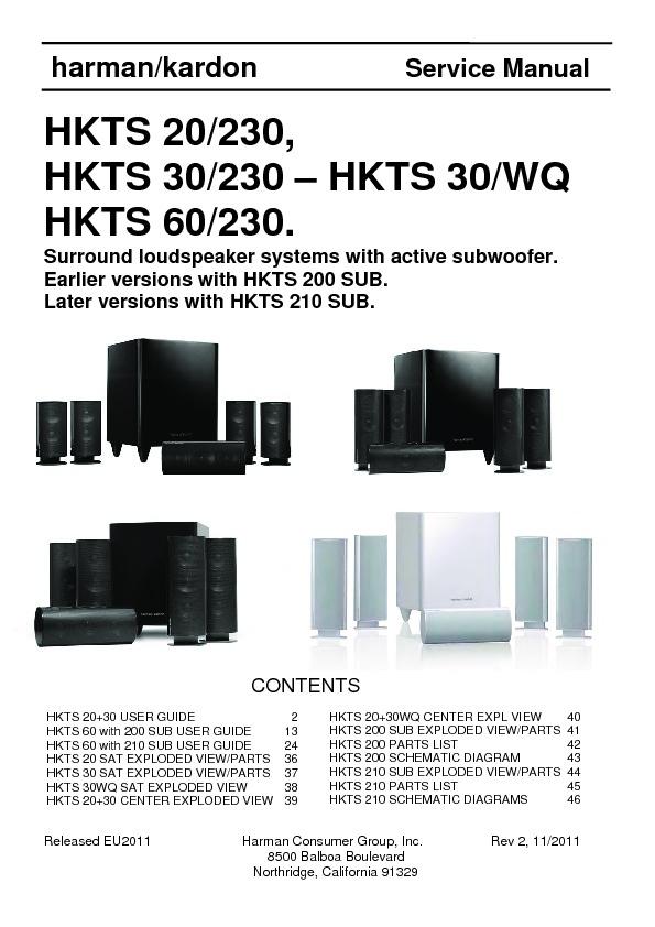 Harman Kardon Hkts 20  Serv Man5  Service Manual  U2014 View
