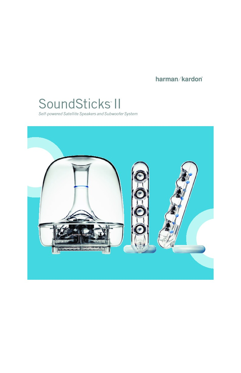 harman kardon soundsticks ii serv man7 info sheet view online or rh servlib com Harman Kardon Speakers Harman Kardon Sticks