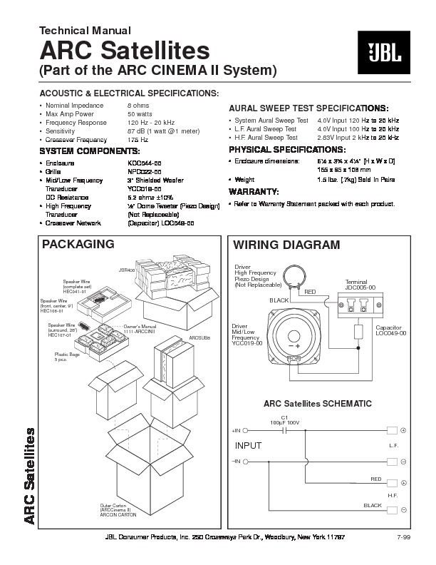 jbl arc cinema sat service manual view online or download repair rh servlib com JBL Audio Toyota JBL Audio Toyota
