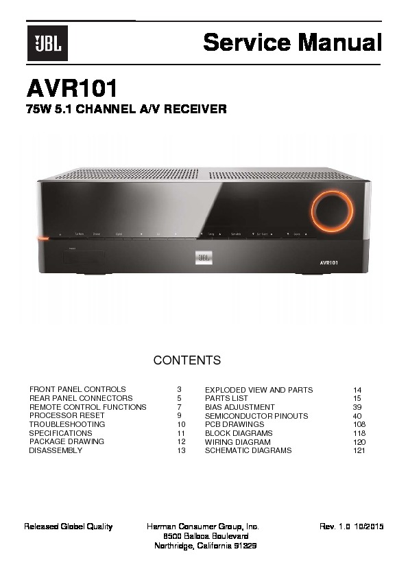 harman kardon avr 101 service manual view online or download rh servlib com Harman Kardon AVR 347 Harman Kardon AVR 630