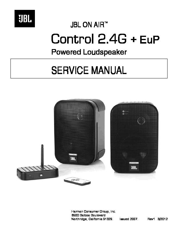 Jbl Control 2 4g Service Manual  U2014 View Online Or Download