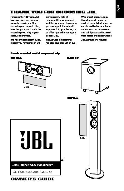 jbl css10 serv man2 user guide operation manual view online or rh servlib com