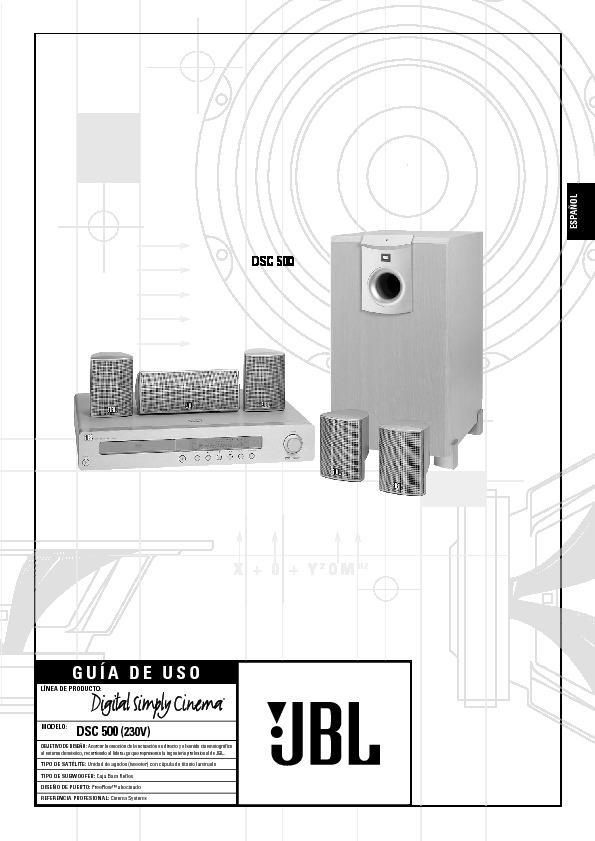 Jbl Dsc 500  Serv Man3  User Guide    Operation Manual