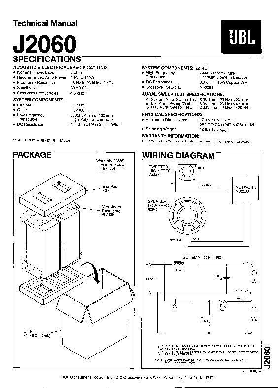 jbl j 2060 service manual  u2014 view online or download repair