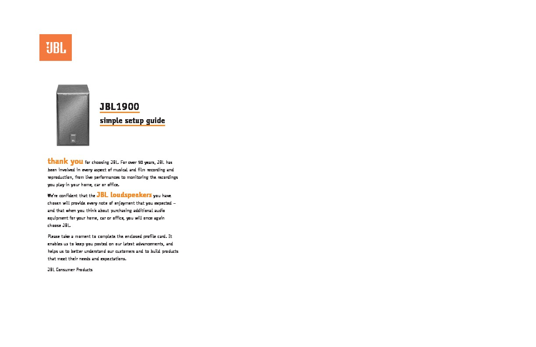 jbl jbl 1900 user guide operation manual view online or download rh servlib com live office installation guide Clip Art User Guide