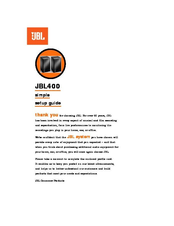jbl jbl 400 user guide operation manual view online or download rh servlib com User Guide Icon live office user guide 4.2