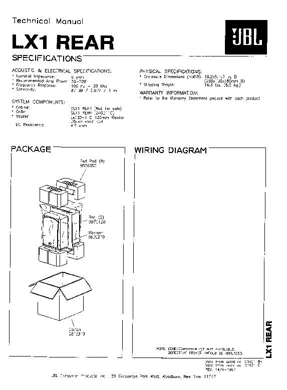 jbl lx 1 rear service manual view online or download repair manual rh servlib com spicer rear axle service manual rockwell rear differential service manual