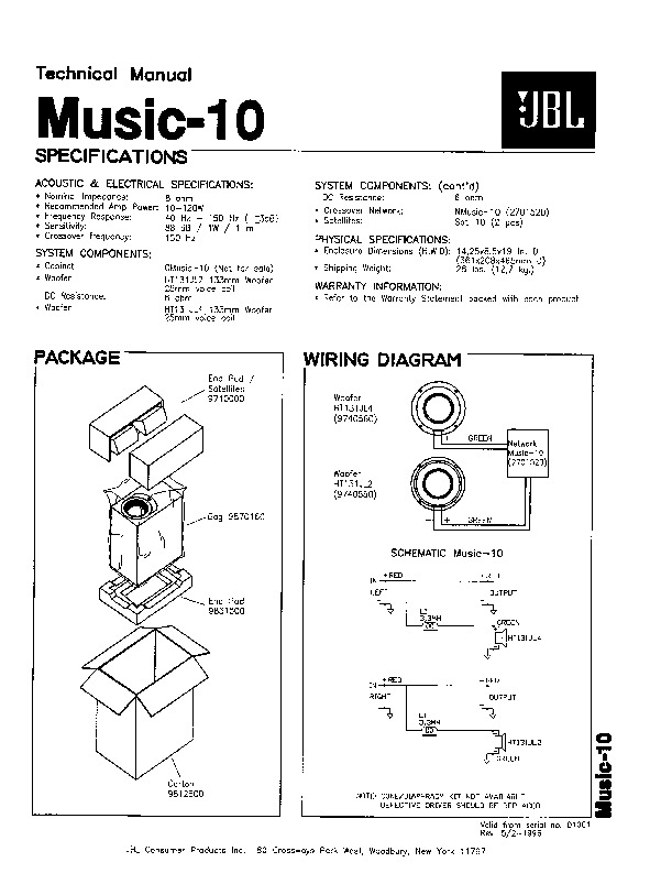 jbl crossover wiring diagram