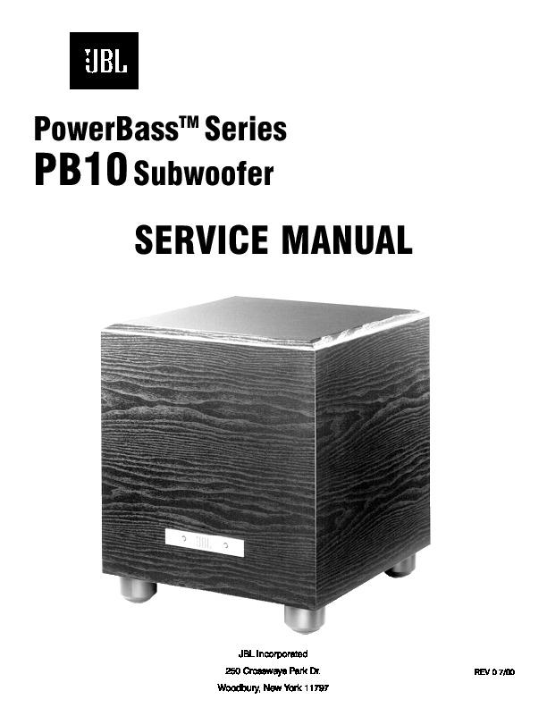 jbl pb 10 serv man3 service manual view online or download rh servlib com Power Bass Subwoofer Powered JBL Sub 150