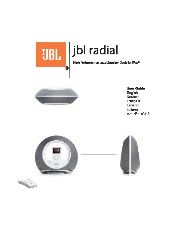 jbl radial serv man7 user guide operation manual view online rh servlib com JBL Radial Micro JBL On Beat Rumble