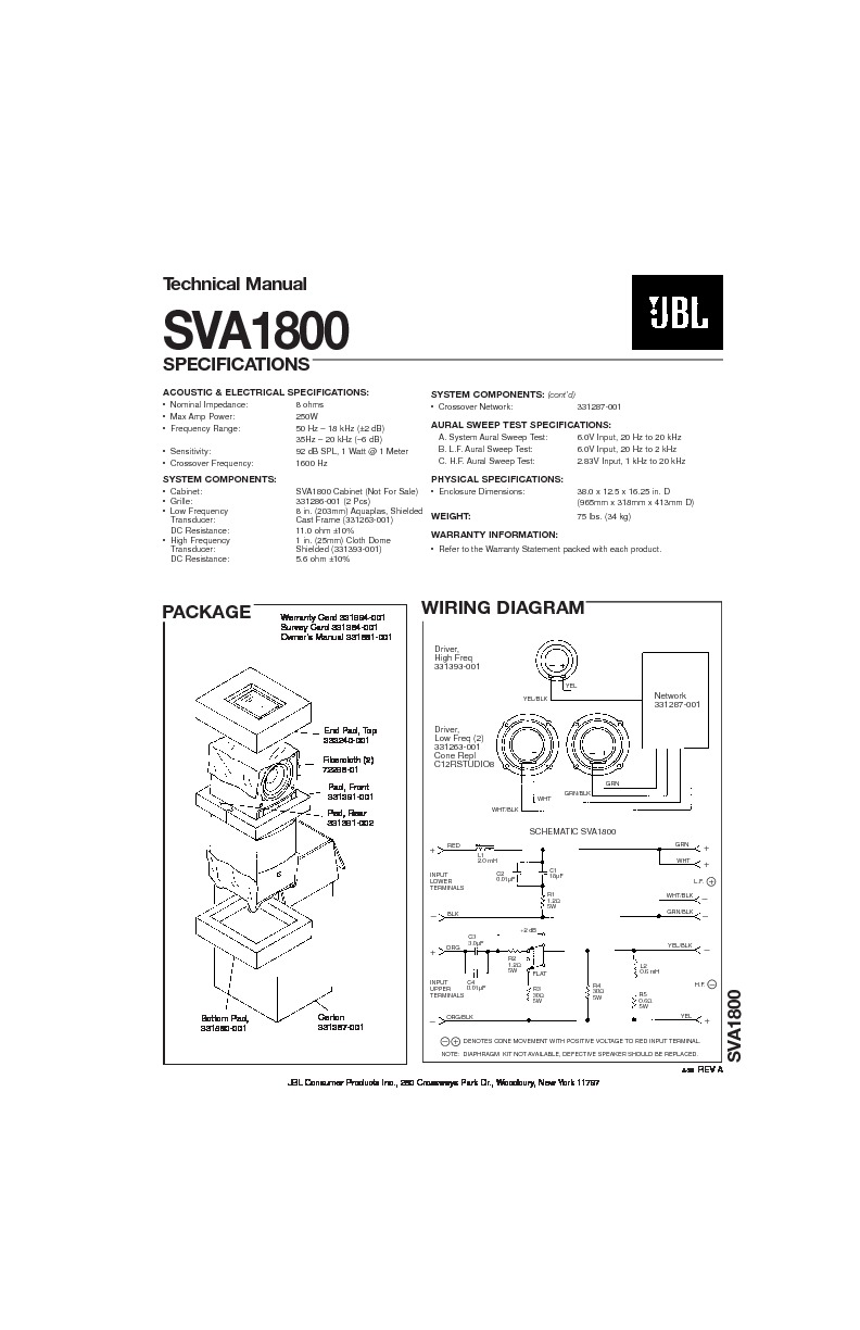 jbl sva 1800  serv man2  service manual  u2014 view online or