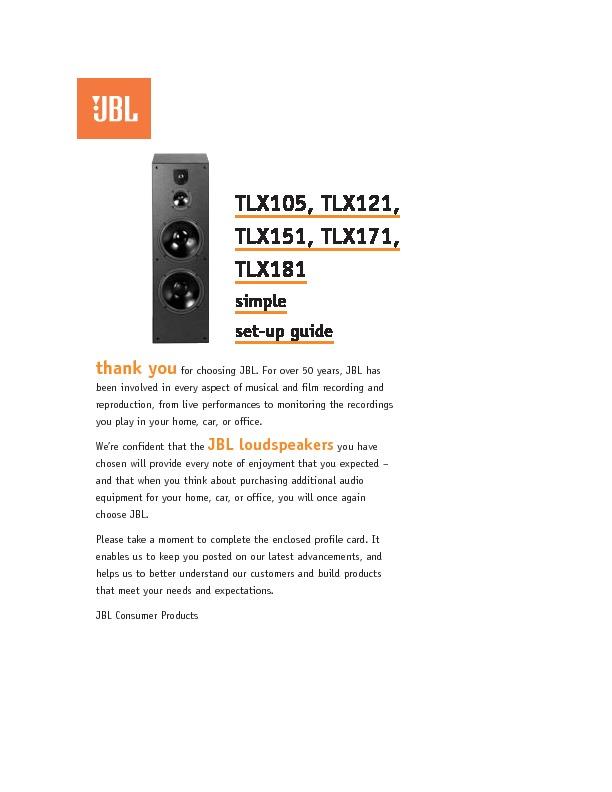 jbl tlx 105 serv man2 user guide operation manual view online rh servlib com User Guide Icon sap live office installation guide