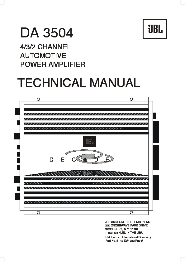 Jbl Da 3504  Serv Man14  Service Manual  U2014 View Online Or