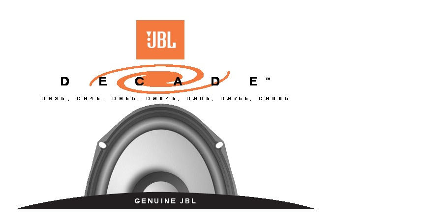 """JBL DECADE 5/"""" X 7/"""" TWO-WAY AUTOMOTIVE SPEAKER SYSTEM DS75"""