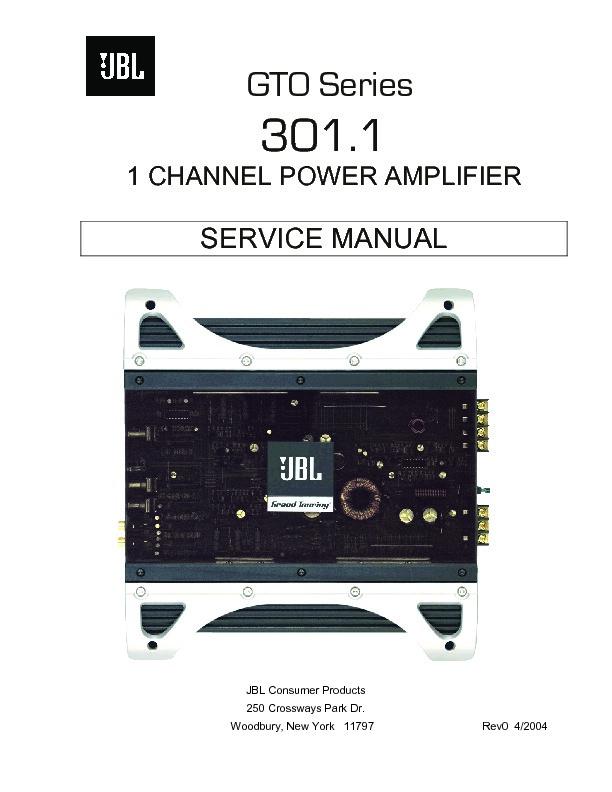 jbl gto 301 1 service manual view online or download repair manual rh servlib com JBL Amplifier Review JBL Amplifier Review