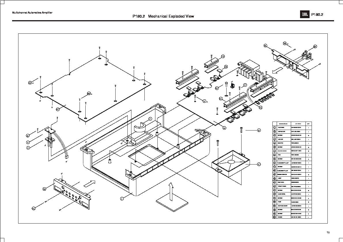 JBL P 180.2 (SERV.MAN5) User Guide / Operation Manual — View online Jbl Amp Bp Wiring Diagram on