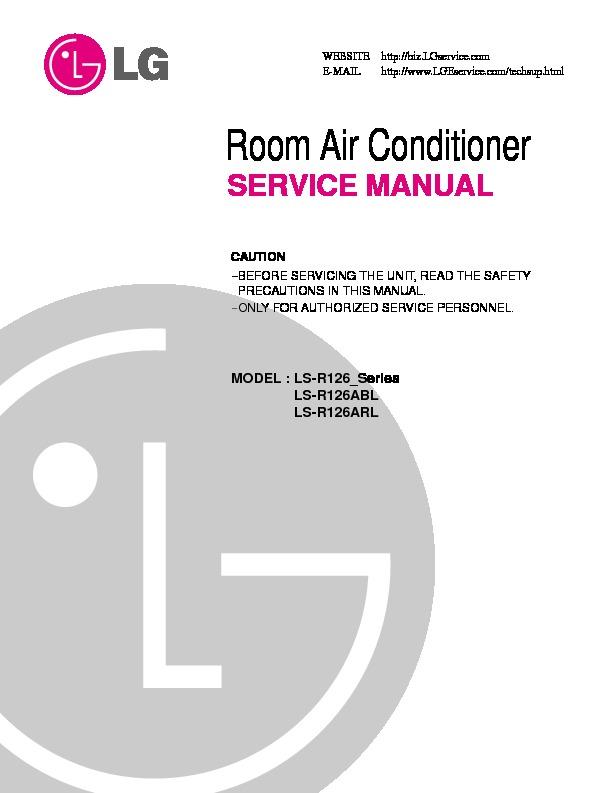 lg ls r126abl ls r126arl service manual view online or download rh servlib com Window AC with Heat Window AC with Heat