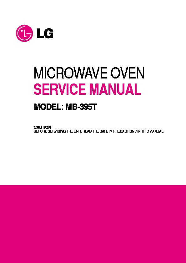 lg mb 395t service manual view online or download repair manual rh servlib com Microwave Replacement Parts for LG LG Microwave Front Venting To