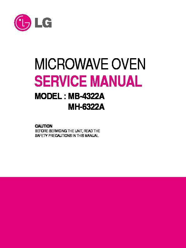 lg mb 4322a service manual view online or download repair manual rh servlib com lg microwave oven instruction manual lg microwave oven owner's manual