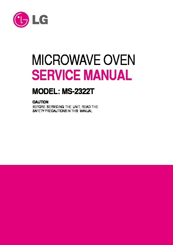 lg ms 2322t service manual view online or download repair manual rh servlib com lg microwave lmhm2017st repair manual lg microwave oven repair manual