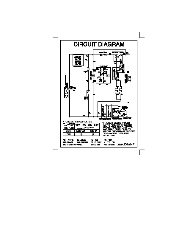 [SCHEMATICS_4HG]  LG GR-242MF Service Manual — View online or Download repair manual | Wiring Diagram Of Refrigerator Pdf |  | service manuals, schematics, repair manuals