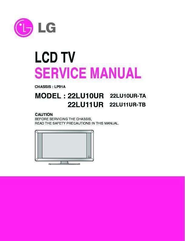 lg 22lu10ur 22lu11uc 22lu11ur chassis lp91a service manual rh servlib com lg tv manual 55ln5600-ui lg tv manual pdf