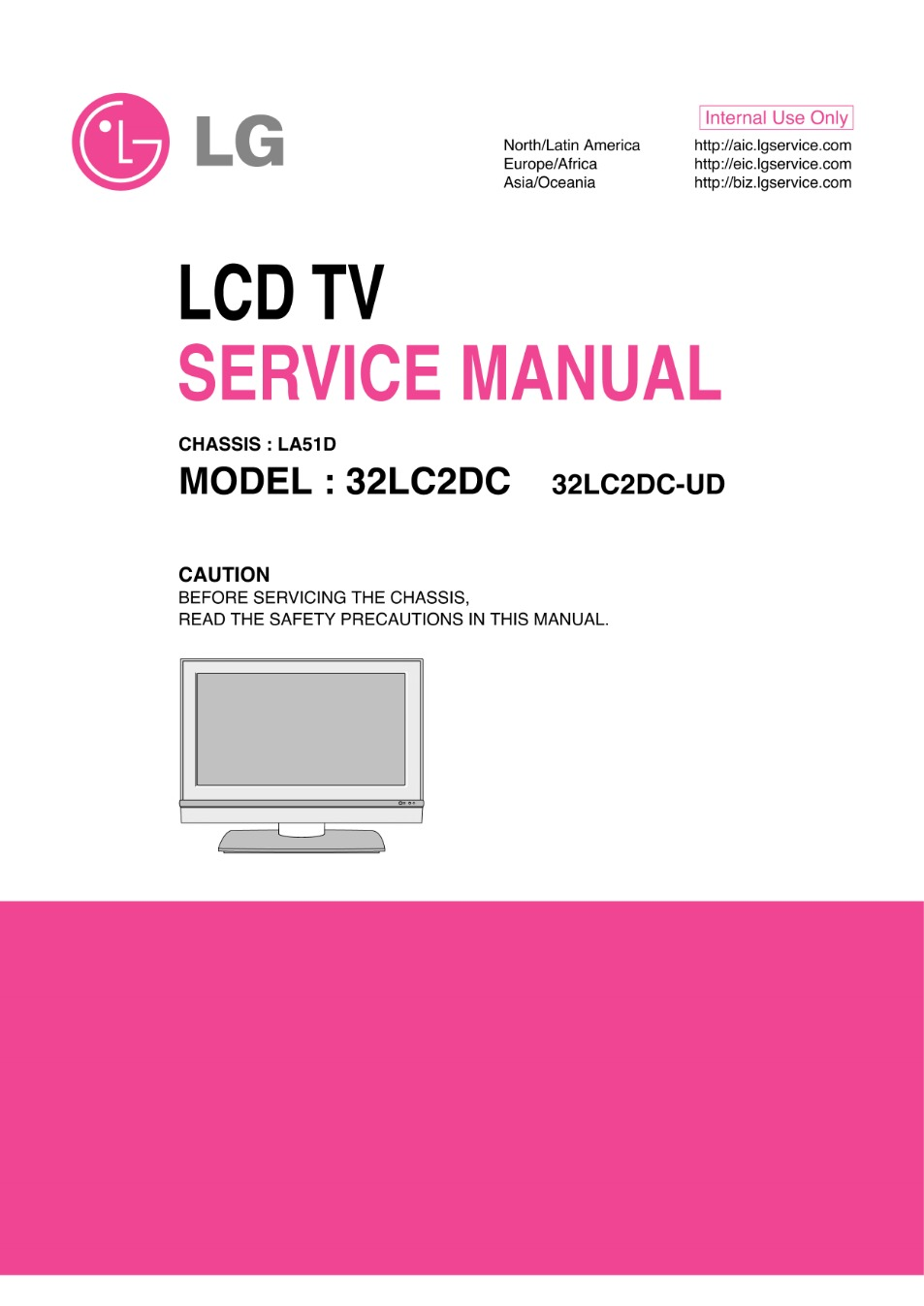lg 32lc2d chassis lb61a service manual view online or download rh servlib com Customer Service Books Service Station