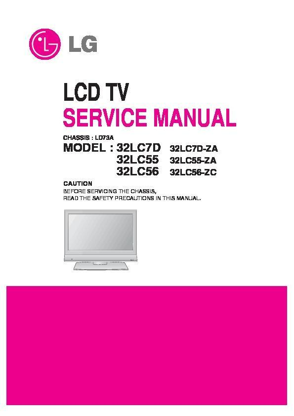 lg 26lc7d 26lc55 chassis ld73a service manual view online or rh servlib com LG Cell Phone Operating Manual LG Instruction Manual