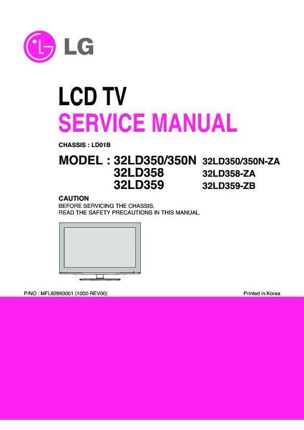 lg 32ld350 32ld350n 32ld358 32ld359 chassis ld01b service rh servlib com Wall Mount LG 32LD350 Model Back View Back View Model for TV LG 32LD350