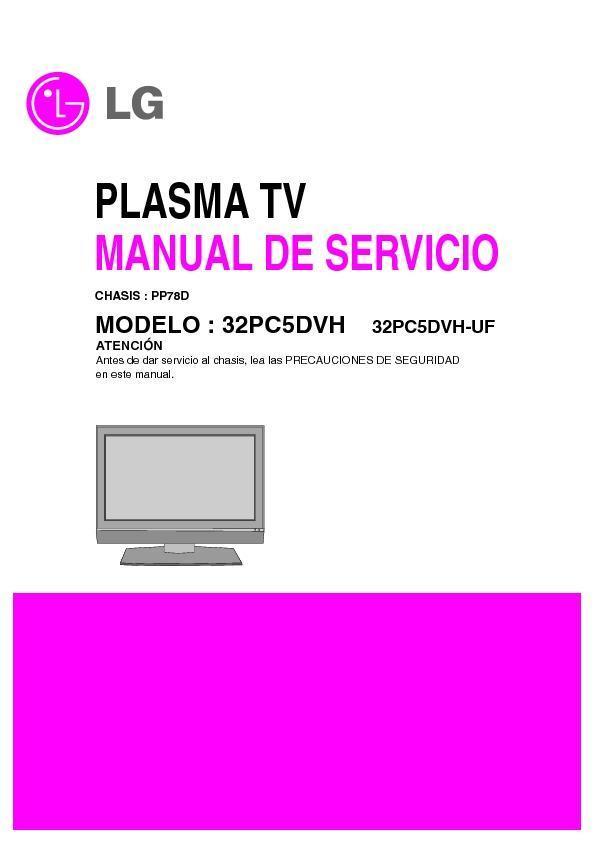 Free lg tv Service manuals