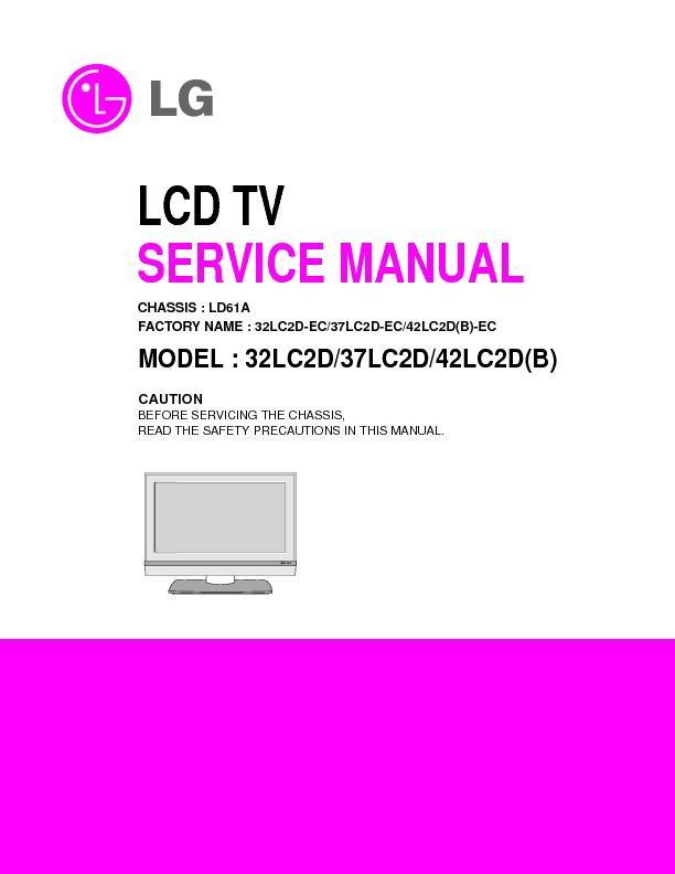 lg 32lc2d 37lc2d chassis la51d service manual view online or rh servlib com Articulating Wall Mount LG 47LN5400 LG TV Power Supply Board