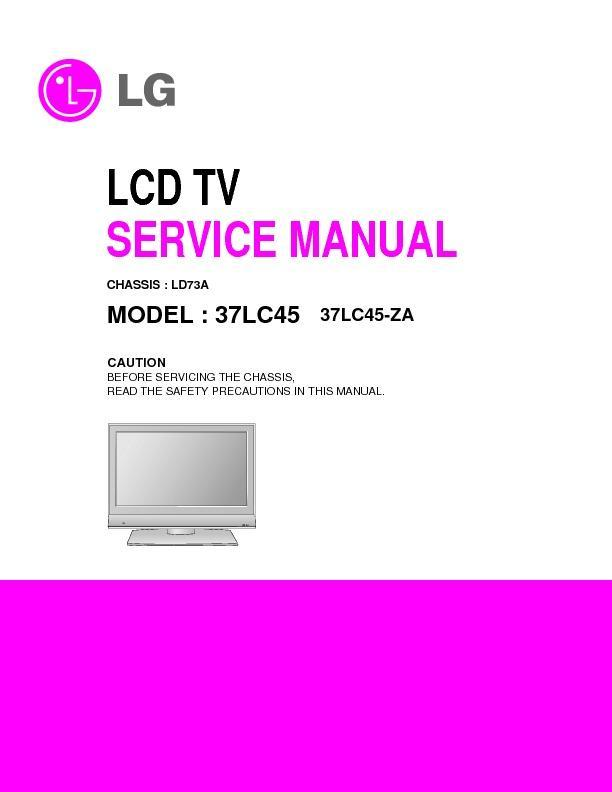 lg 26lc7d 26lc55 chassis ld73a service manual view online or rh servlib com LG Touch Phone Operating Manual LG Cell Phone Manuals