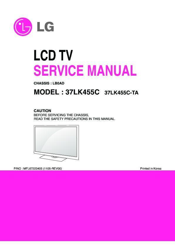 "lg 37lk455c chassis lb0ad service manual view online or download rh servlib com 42 LG TV Manual LG 32"" TV"