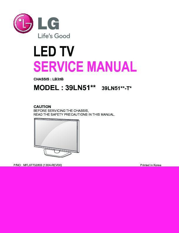 Lg 32ln49xx  32ln4900  Chassis Lb35b  Service Manual  U2014 View Online Or Download Repair Manual