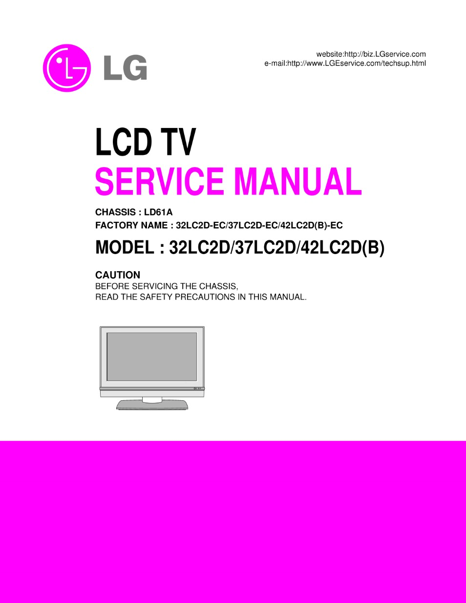 lg 32lc2du 37lc2d 42lc2 chassis la63e service manual view rh servlib com Part for LG 32LC2D TV LG 37LC2D TV