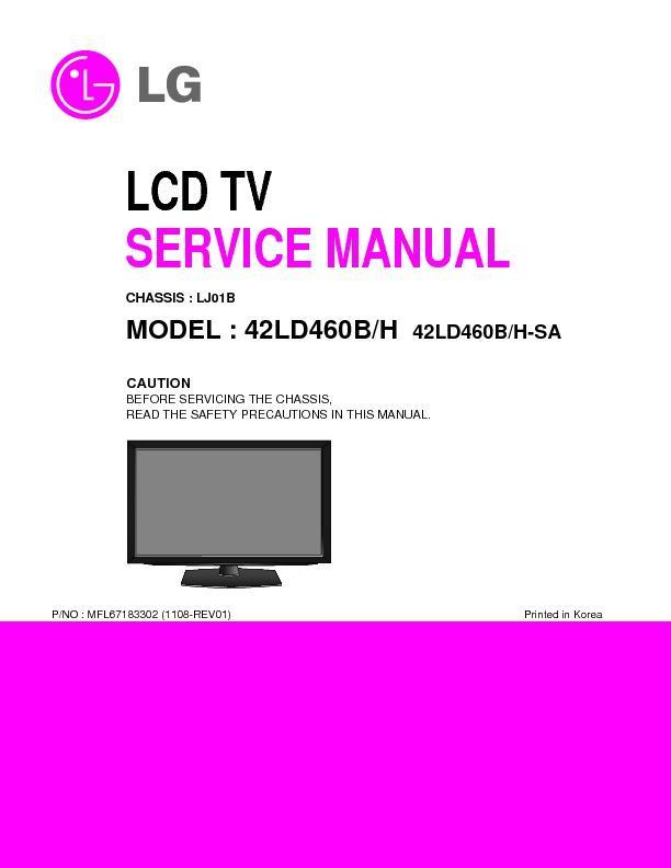 lg 42ld460 chassis ll01b service manual view online or download rh servlib com lg lcd monitor repair manual lg lcd tv service manual free download