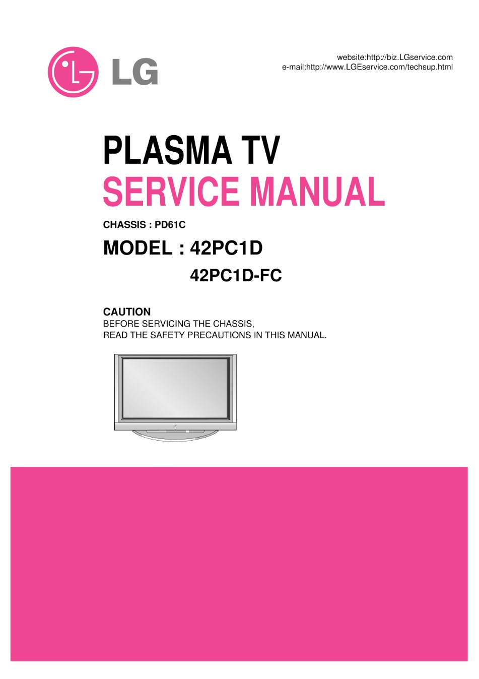 Lg 50pc1d Fc Chassispd61c Service Manual View Online Or Dvd Circuit Diagram Download 42pc1d