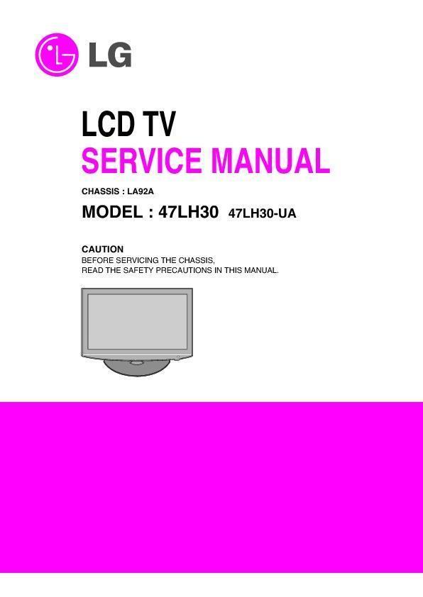 lg 47lh30 chassis la92a service manual view online or download rh servlib com lg 47lh30-ua manual lg tv 47lh30 manual